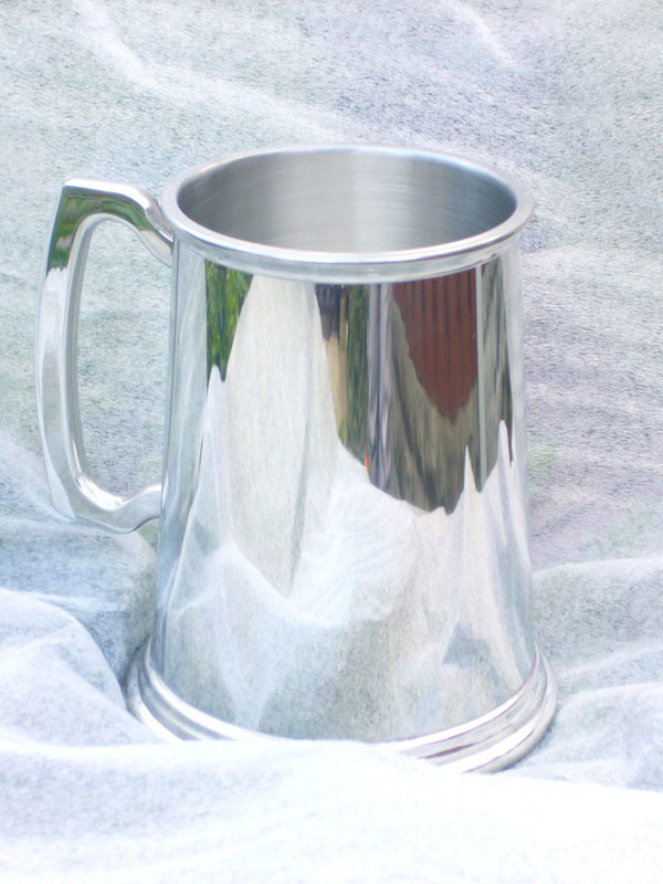 1 Pint Plain Sheffield Pewter Tankard (T009)