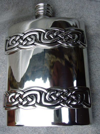 Finished Flask with Celtic Cast Bands