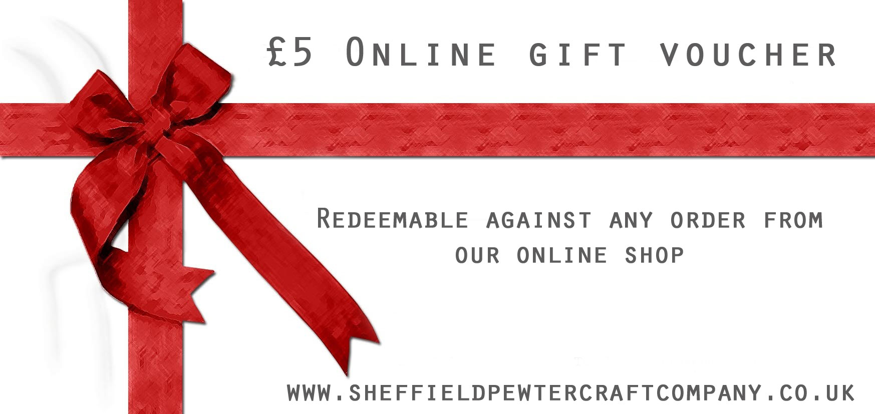 Gift certificates for pewter products british pewter manufacturer 5 online gift voucher xflitez Image collections