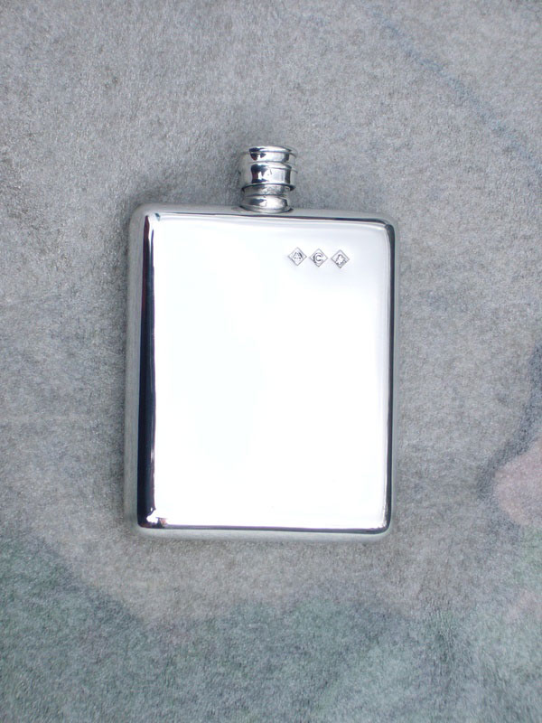 5oz Retro Stylised Pewter Hip Flask (F016)