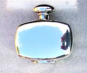 Ladies 2oz Retro Stylised Pewter Hip Flask (F017)