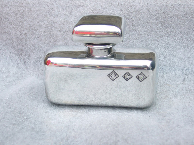Ladies Retro Purse Pewter Flask