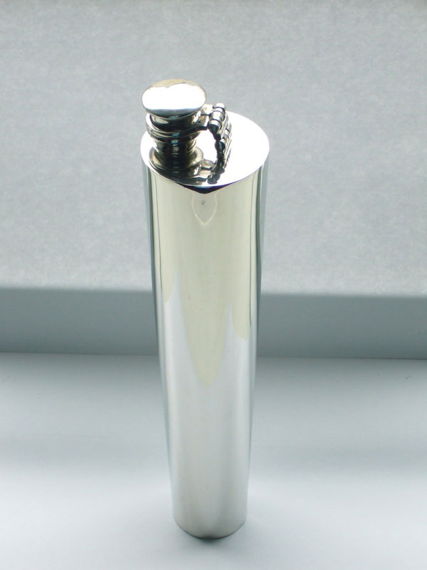 Pewter Saddle Flask (F029)