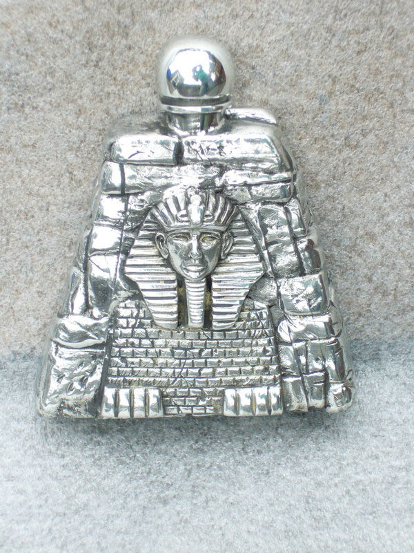 2.5oz Sphinx Pewter Flask (F046)