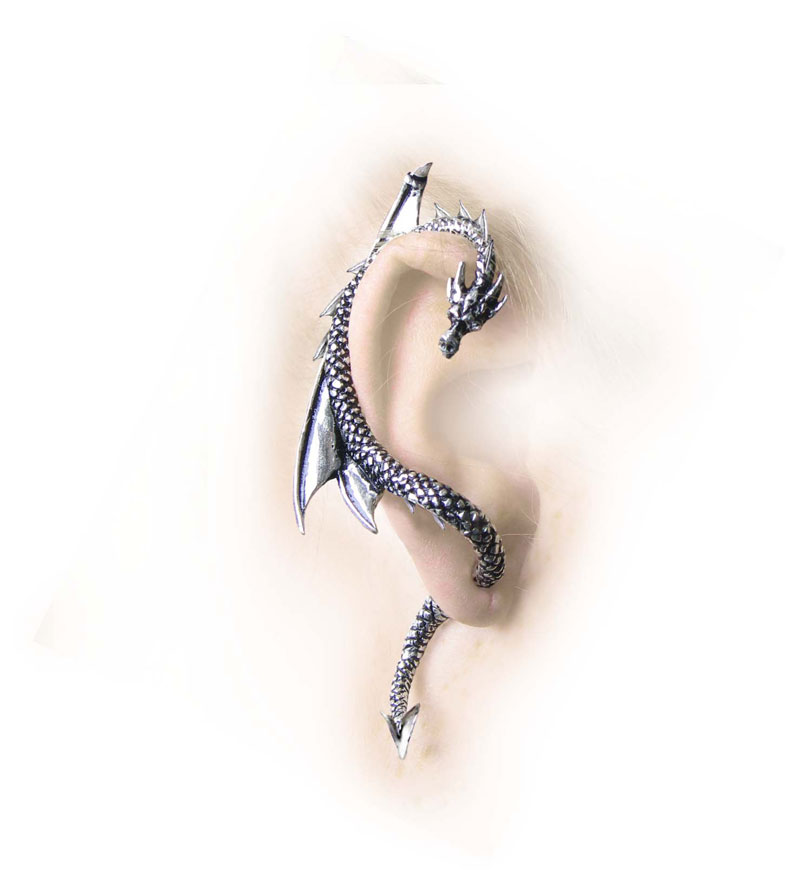 Gothic Pewter Earring
