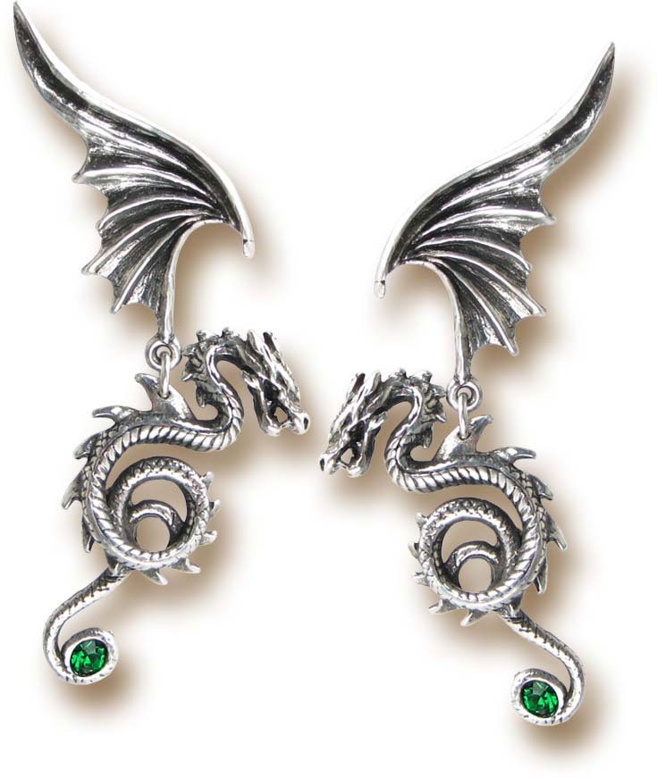 Gothic Pewter Earrings - Bestia Regalis