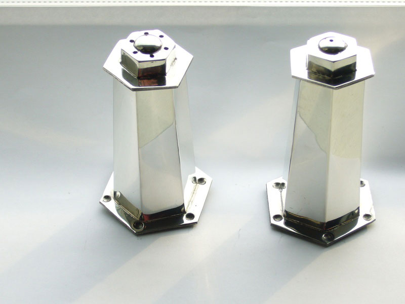 Hexagonal Pewter Cruet Set (Salt and Pepper)