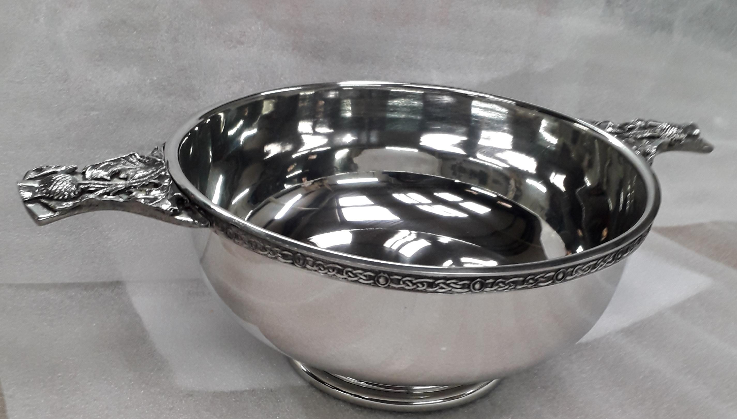 Pewter Celtic Quaich Bowl (QB001)