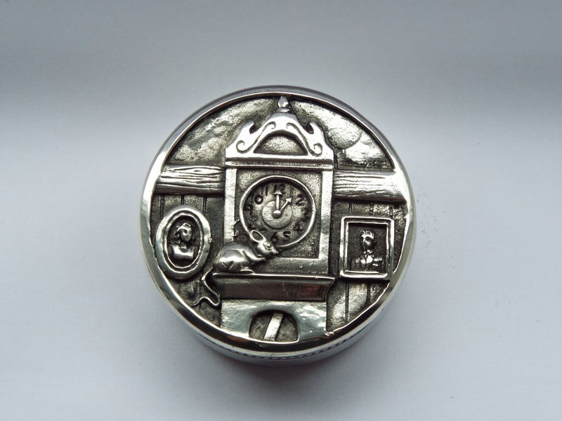 Hickory Dickory Pewter Children's Trinket Box (TB2)