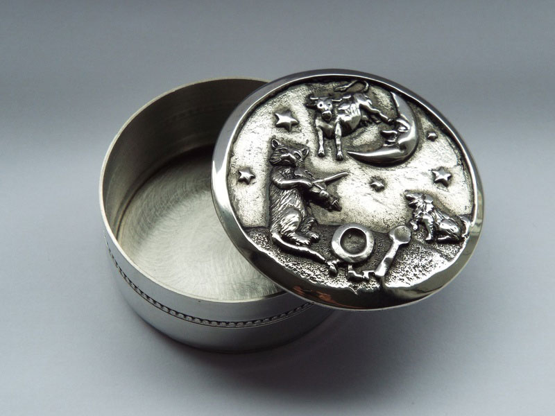 Hey Diddle Diddle Children's Pewter Trinket Box (TB4)