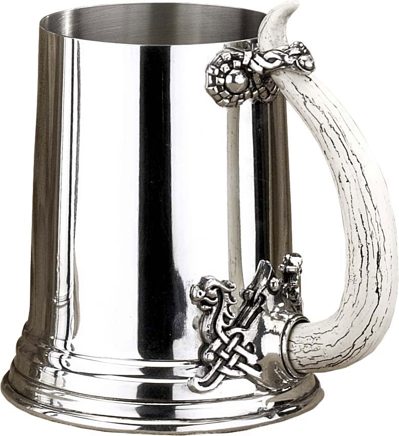 The Alchemy Collection 1 Pint Viking Horn Pewter Tankard (AT005)