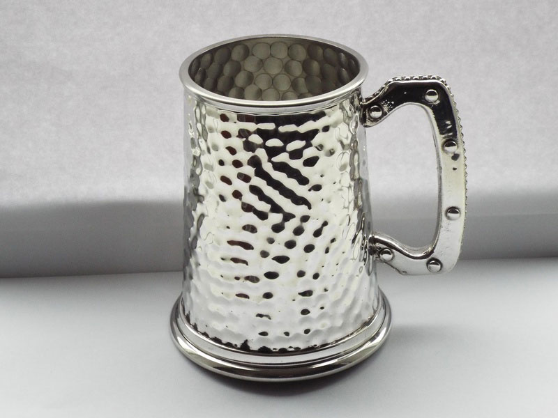"""The Full Hammered"" 1 Pint Pewter Tankard (T012)"