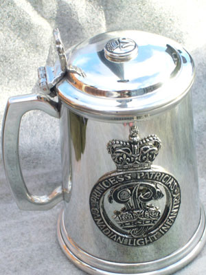 Pewter Tankard for Canadian Light Infantry