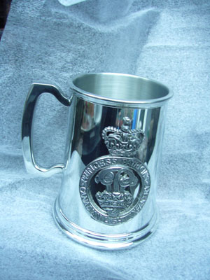 Canadian Light Infantry pewter tankard
