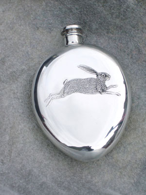Holland & Holland Embossed Hare Flask