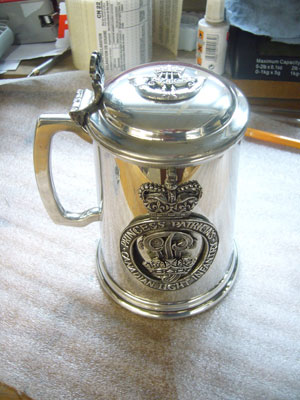 Princess Patricia's Canadian Light Infantry pewter tankard
