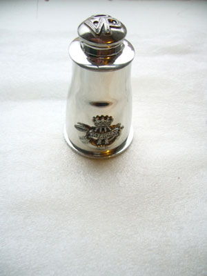 Pewter cruet set for Princess Patricia's Canadian Light Infantry