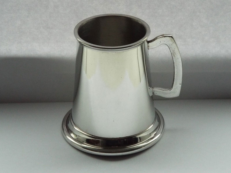 1/4 Pint Pewter Christening Tankard (T017)