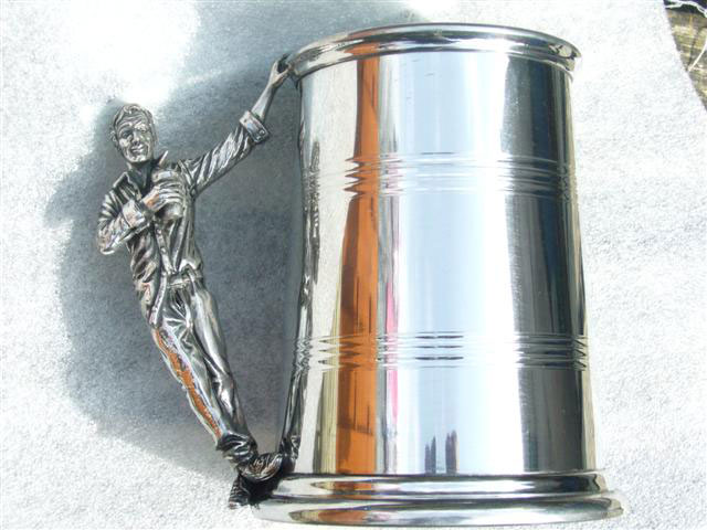 the happy drunk 1 pint pewter tankard