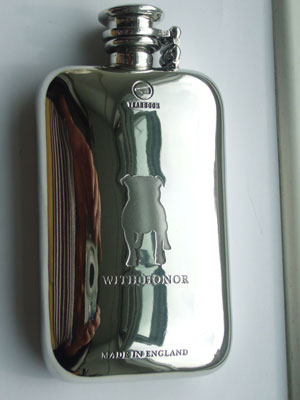 Pewter flask for The Famous Yearbook Store USA
